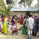 tea plantation dancing on Holi
