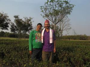 my host in his private tea garden